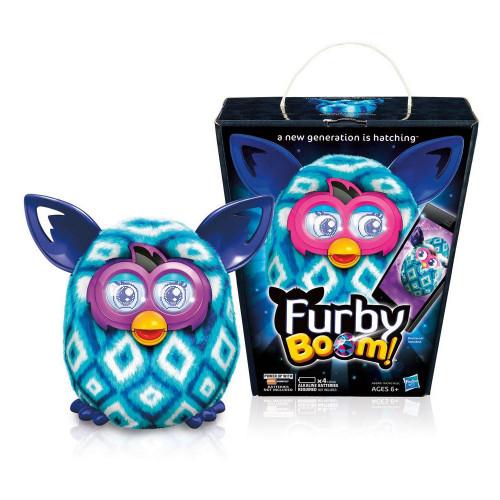 Pelúcia Interativa Hasbro Furby Boom Losango Azul Clar/Azul A6848 A4343 - 2