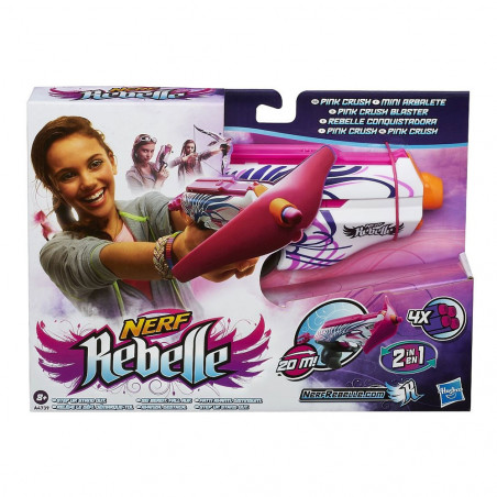 Lanza Dardos Nerf Rebelle Pink Crush A4739 Hasbro - 2