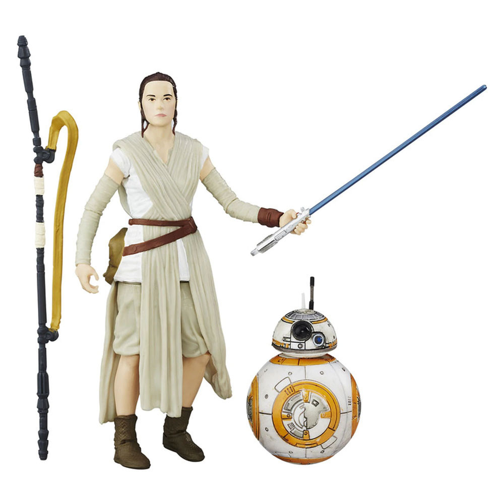 Muñeco Hasbro Star Wars B3836 Rey Jakku & BB-8 15CM - 1