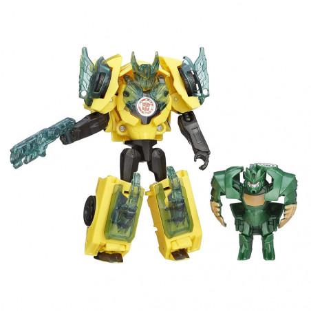 Muñeco Hasbro Transformers B5602 Bumblebee vs Mini-Con Major Mayhem - 1