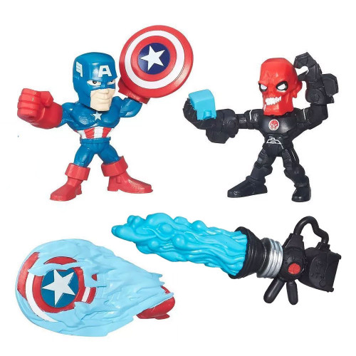 Muñeco Hasbro Marvel B6689 Captain America vs. Iron Skull - 1