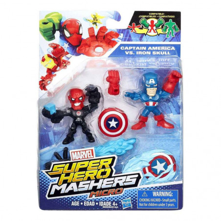 Muñeco Hasbro Marvel B6689 Captain America vs. Iron Skull - 2