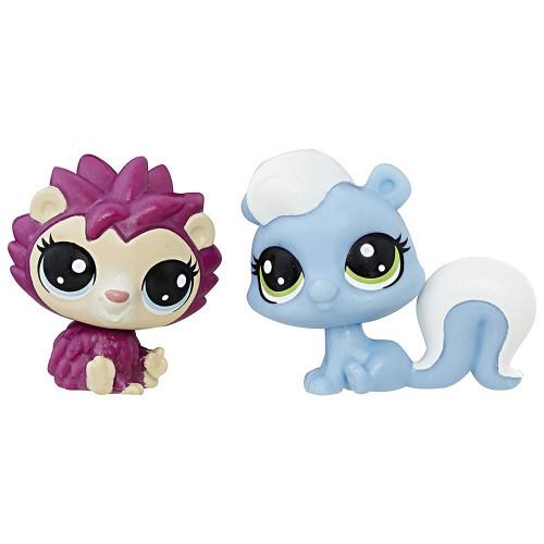Littlest Pet Shop Hasbro C1676 Skunk & Hedgehog - 1