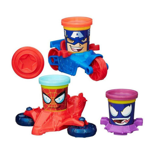 Masa de Modelar Hasbro Play-Doh B0606 Marvel Can-Heads - 1