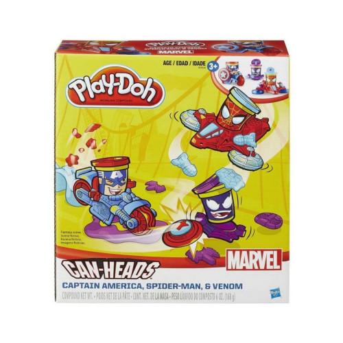 Masa de Modelar Hasbro Play-Doh B0606 Marvel Can-Heads - 2