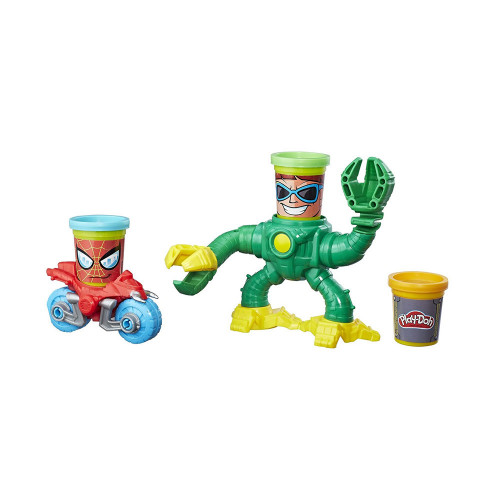Masa De Modelar Hasbro B9364 Play-Doh Spider-Man vs Doc Ock - 1
