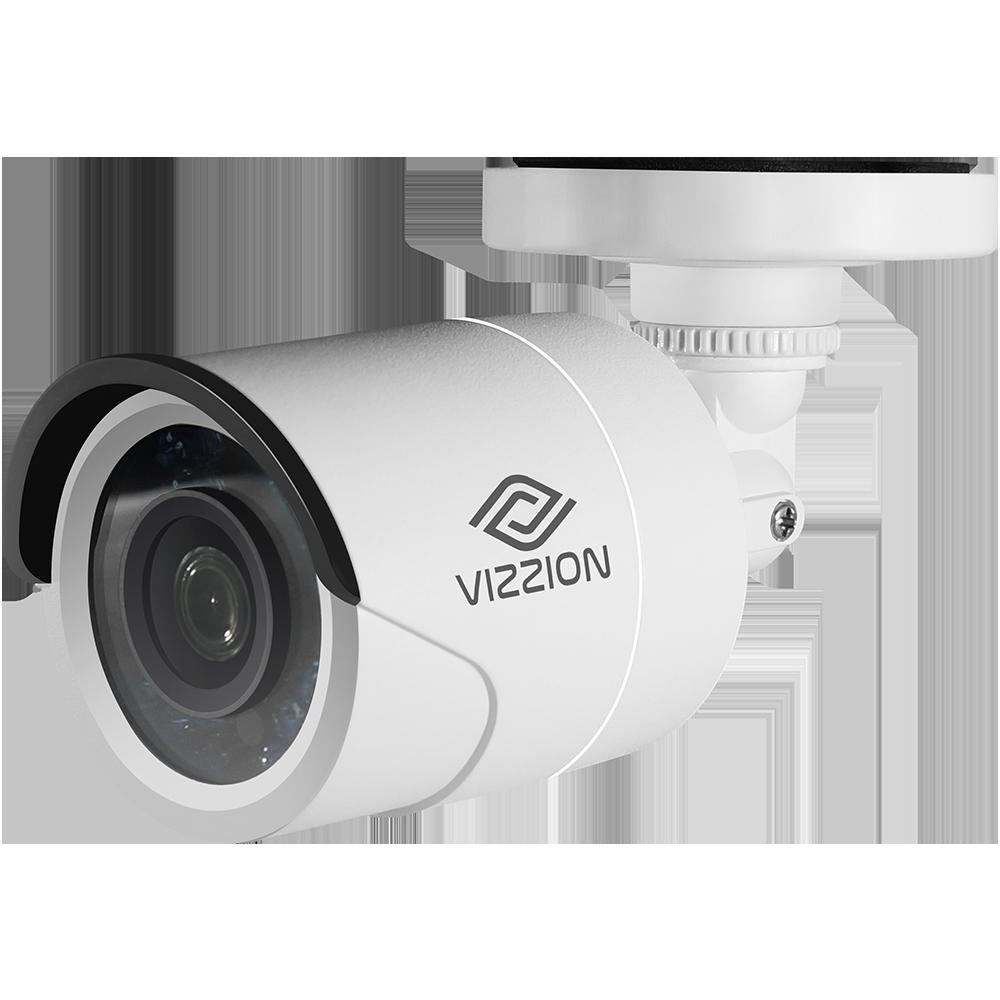 Cámara de Vigilancia FHD Bullet Vizzion VZ-BD0T-IT5F 3.6MM 2MP IR 80M 1080p - 1