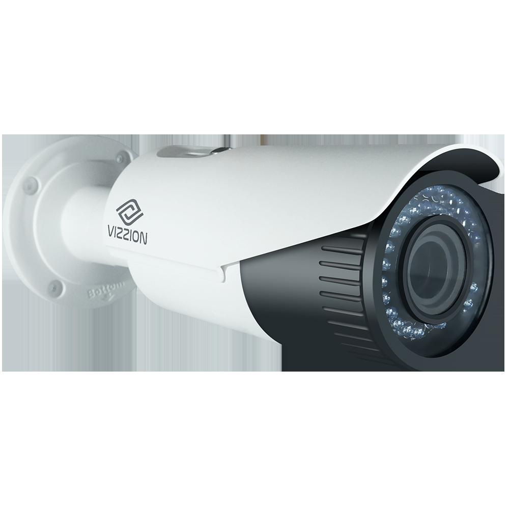 Cámara de Vigilancia IP FHD Bullet Vizzion VZ-IPBD-VF Lente 2MP de 2.8 a 12 mm - Blanco - 1