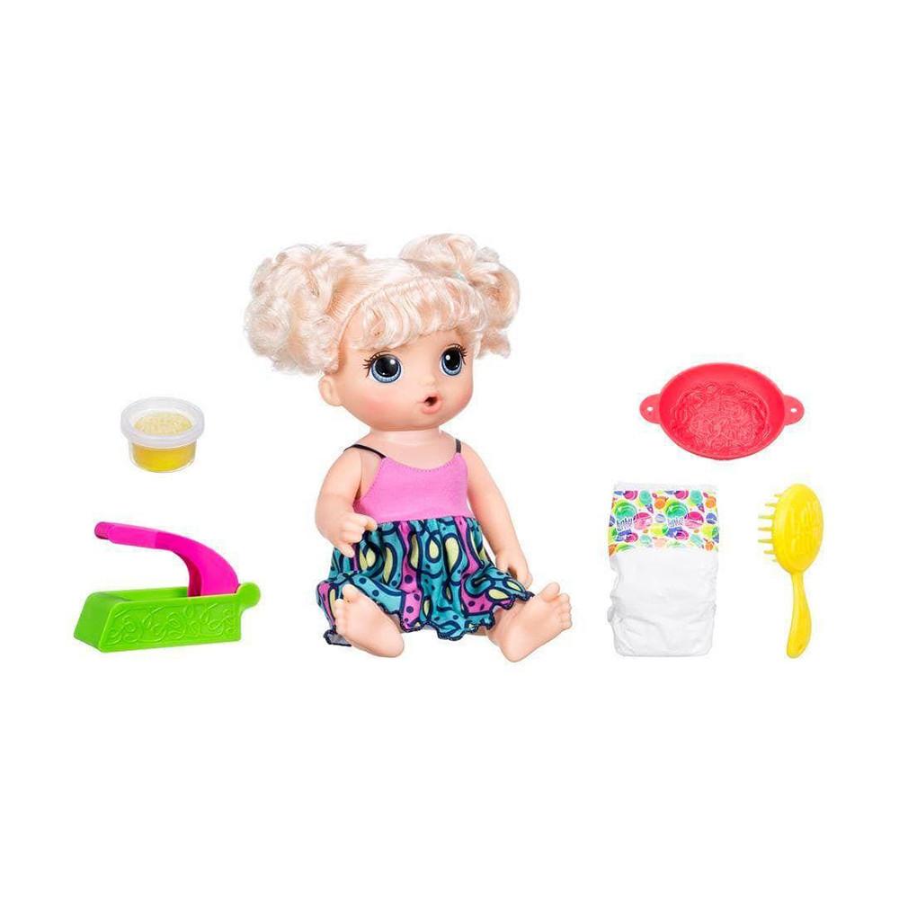 Muñeca Hasbro Baby Alive C0963 Come Espaguetti Rubia - 1