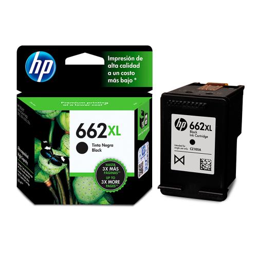 CART HP CZ105AL (662XL) BLACK 6.5 ML - CZ105AL - 1