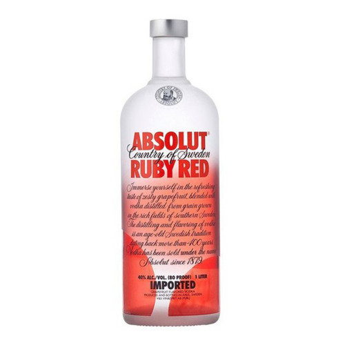 BEB.VODKA ABSOLUT RUBY RED...