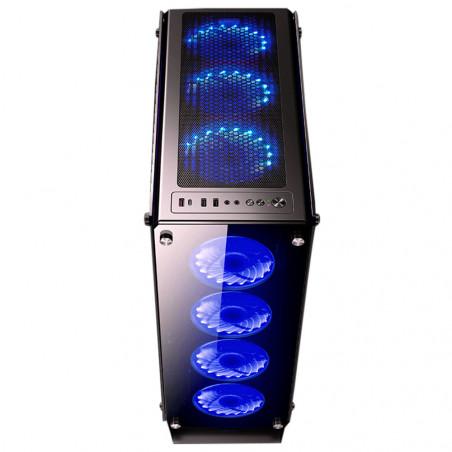 REDRAGON GC-801 GABINETE CUERO HIERRO CHROMA RGB FULL - GC-801 - 4