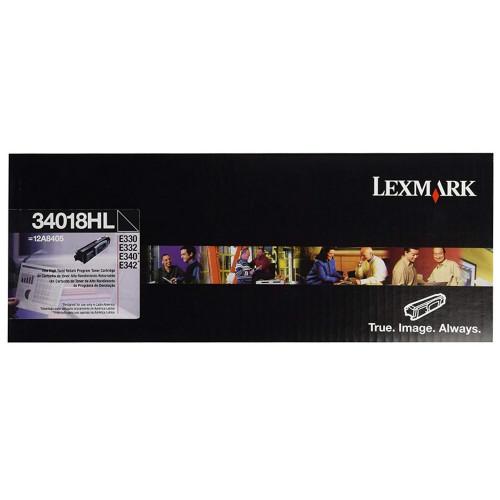 TONER LEXMARK 34018HL BLACK - 34018HL - 1