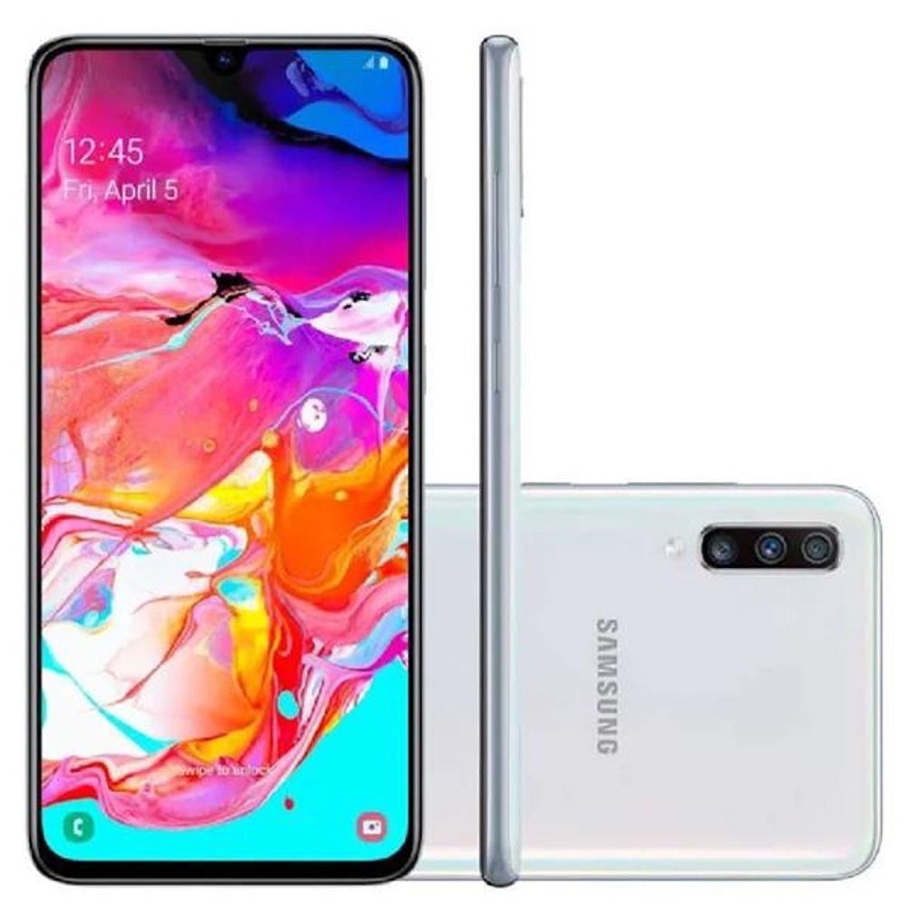 Smartphone Samsung Galaxy A70 1 SIM 128GB Blanco SM-A705MZWL - 1
