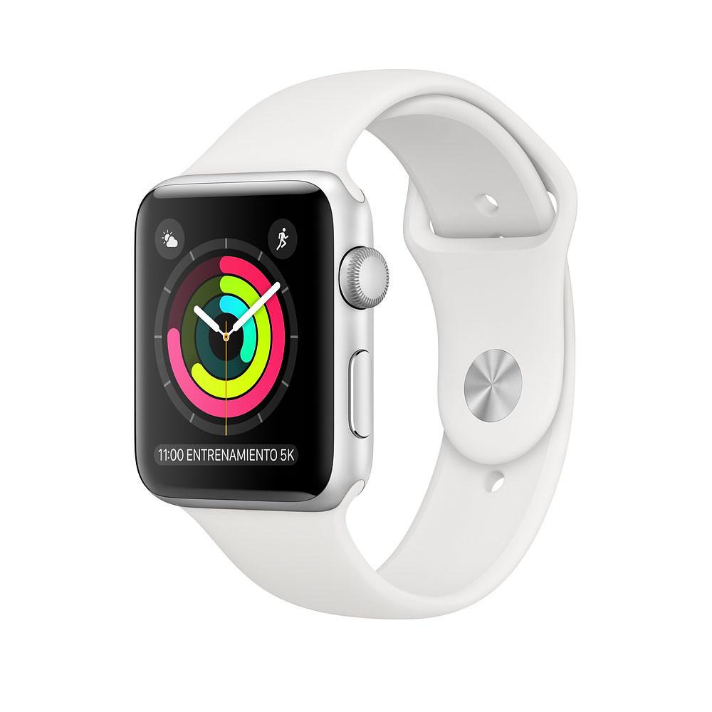 Apple Watch Series 3 38mm (GPS, Plateado, Aluminio, Blanco Sport) MTEY2LL/A - 1