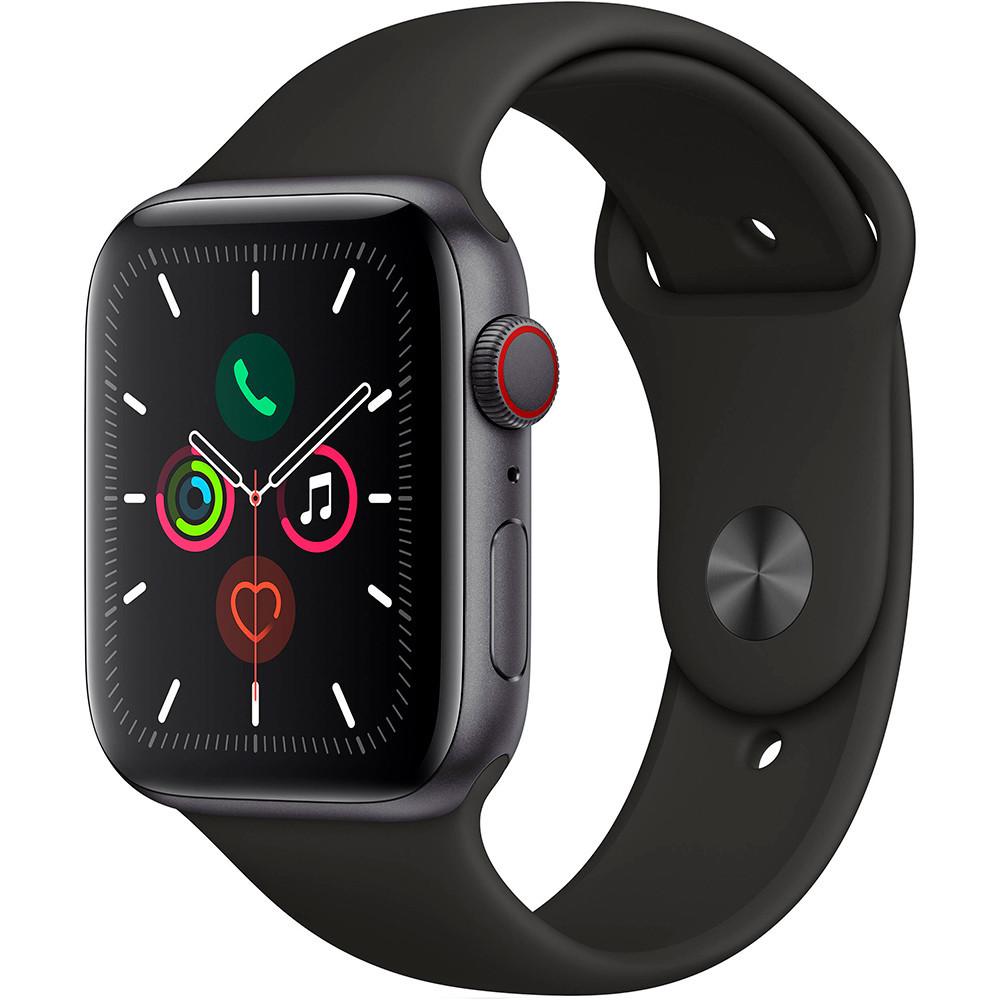 Apple Watch Series 5 44mm (GPS, Aluminio Gris Espacial, Pulsera Sport Negro) MWVF2LL/A A2093 - 1