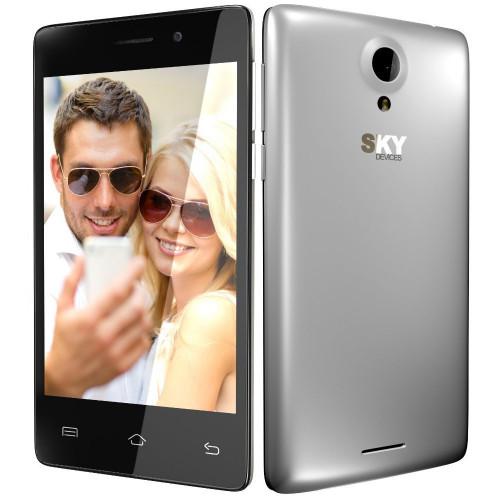 Smartphone Sky Divices Fuego 4.0 Plateado 40DFSL19 - 1