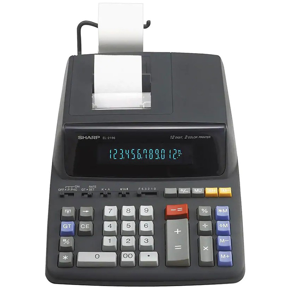 Calculadora con Impresora Sharp EL-2196BL 110V - 2