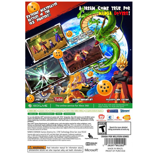Jogo Xbox 360 Dragon Ball...