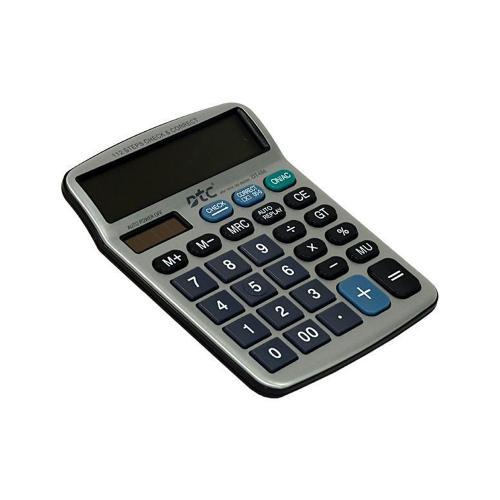 Calculadora DTC 12 Digitos DT-686 Plata Negro - 1